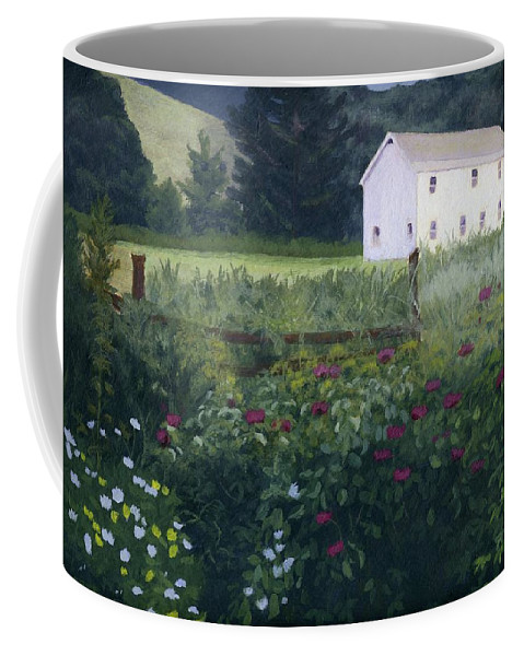 Garden Coffee Mug featuring the painting Garden In The Back by Lynne Reichhart