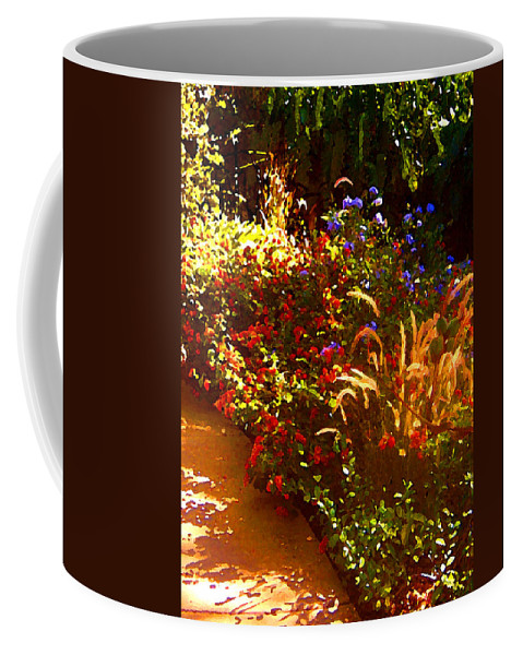 Coffee Mug featuring the painting Garden Pathway by Amy Vangsgard