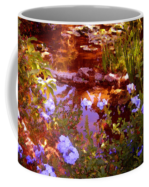 Landscapes Coffee Mug featuring the painting Garden Pond by Amy Vangsgard