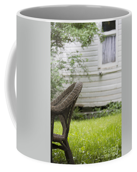 Chair Coffee Mug featuring the photograph Garden Seat by Margie Hurwich