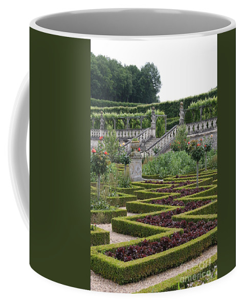 Cabbage Coffee Mug featuring the photograph Garden Symmetry Chateau Villandry by Christiane Schulze Art And Photography