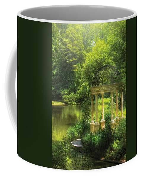 Savad Coffee Mug featuring the photograph Garden - The Temple Of Love by Mike Savad