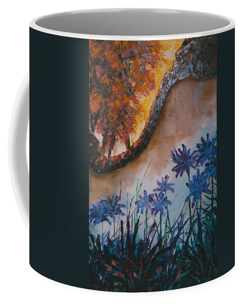 Flowers Coffee Mug featuring the painting Garden Wall by Lord Frederick Lyle Morris