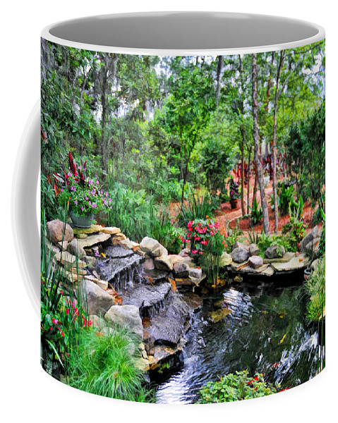 Garden Coffee Mug featuring the photograph Garden Waterfall And Pond by Ginger Wakem