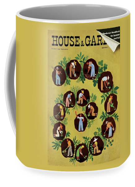 House And Garden Coffee Mug featuring the photograph Gardeners And Farmers by Witold Gordon