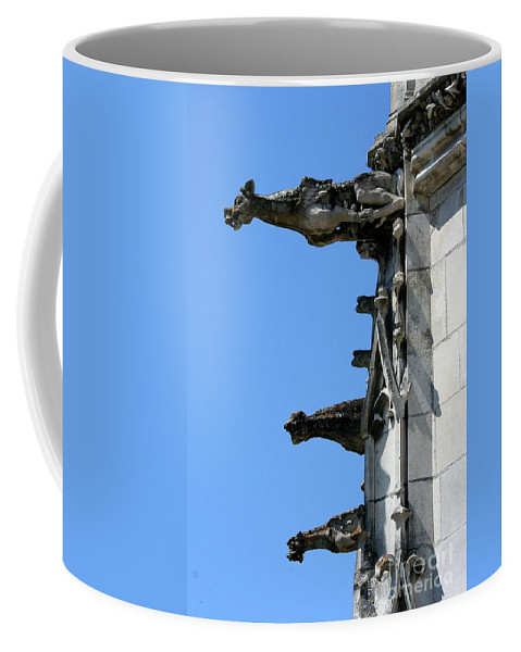 Gargoyles Coffee Mug featuring the photograph Gargoyles In A Row by Christiane Schulze Art And Photography