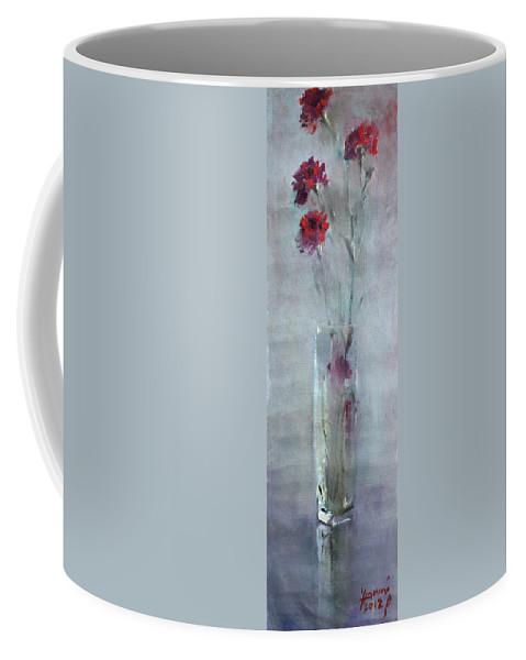 Garofano Coffee Mug featuring the painting Garofano Per Lei by Ylli Haruni