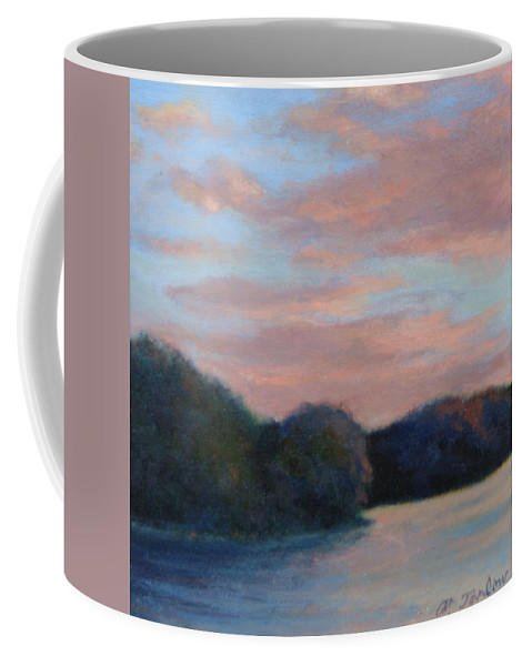 Tiny Square Coffee Mug featuring the painting Garrison Evening by Phyllis Tarlow
