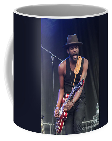 Guitarist Coffee Mug featuring the photograph Gary Clark Jr by Concert Photos
