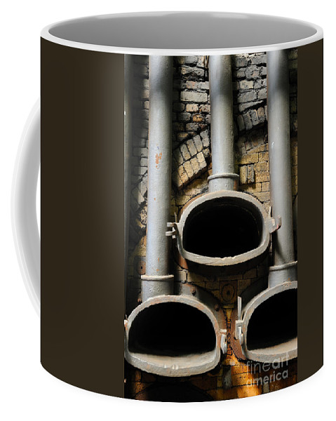 Gas Coffee Mug featuring the photograph Gas Distilation by Grigorios Moraitis