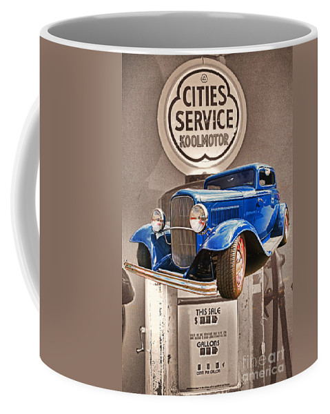 Cars Coffee Mug featuring the photograph Gasoline Alley by Randy Harris