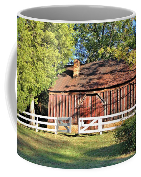 7070 Coffee Mug featuring the photograph Gate Left Open by Gordon Elwell