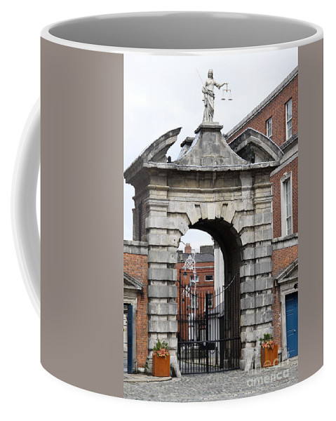 Gate Of Justice Coffee Mug featuring the photograph Gate Of Justice - Dublin Castle by Christiane Schulze Art And Photography