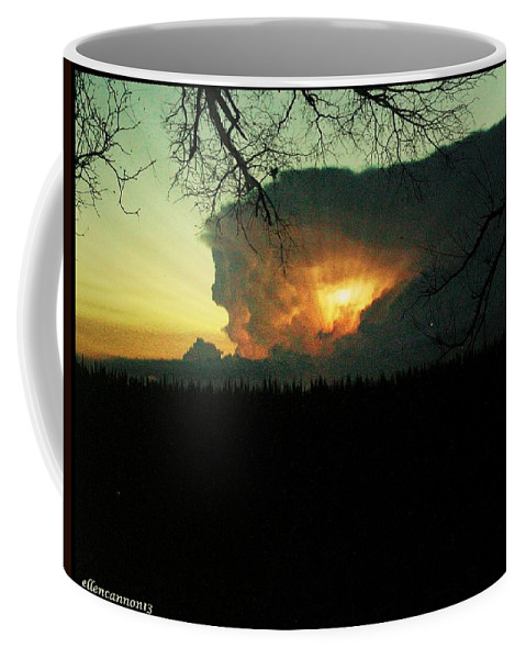 Storm Clouds Coffee Mug featuring the photograph Gathering Storm by Ellen Cannon