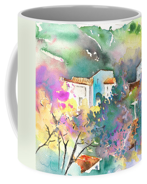 Travel Coffee Mug featuring the painting Gatova Spain 01 by Miki De Goodaboom