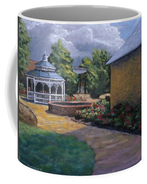 Potter Coffee Mug featuring the painting Gazebo In Potter Nebraska by Jerry McElroy