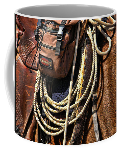 Horse Coffee Mug featuring the photograph Gear by Shannon Story