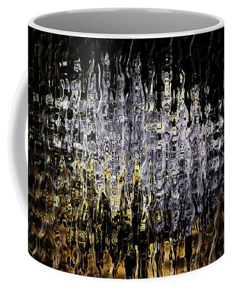Abstract Coffee Mug featuring the digital art Gem 3 by John Saunders