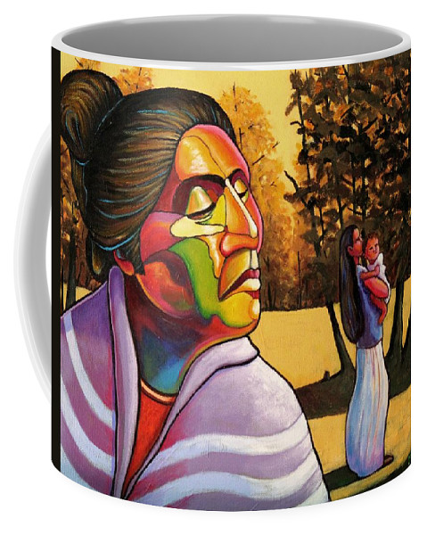Woman Coffee Mug featuring the painting Generations by Joe Triano
