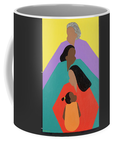 Commissioned Original Oil & Acrylic Coffee Mug featuring the painting Generations by Synthia SAINT JAMES