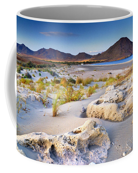 Seascape Coffee Mug featuring the photograph Genoveses Beach At Sunset by Guido Montanes Castillo