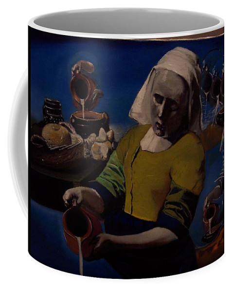Coffee Mug featuring the painting Geological Milk Maid Anthropomorphasized by Jude Darrien