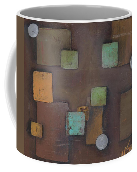 Geometric Coffee Mug featuring the painting 'geometric' by Whitney Tomlin