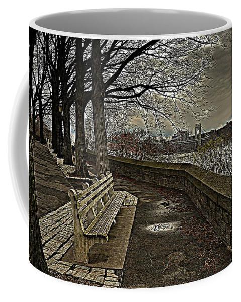 New York Coffee Mug featuring the photograph George Washington Bridge From Fort Tryon by Jeff Watts