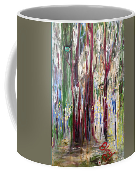 Trees Coffee Mug featuring the painting Georgia Marsh in March by Peggy Blood