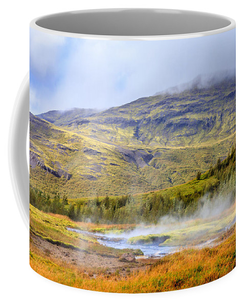 Europe Coffee Mug featuring the photograph Geothermal Pools by Alexey Stiop