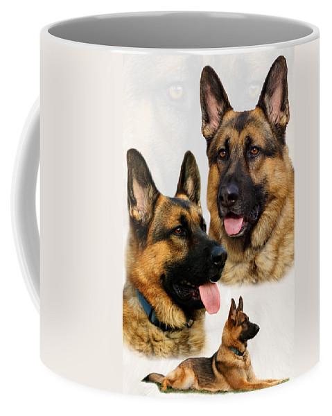German Shepherd Coffee Mug featuring the photograph German Shepherd Collage by Sandy Keeton