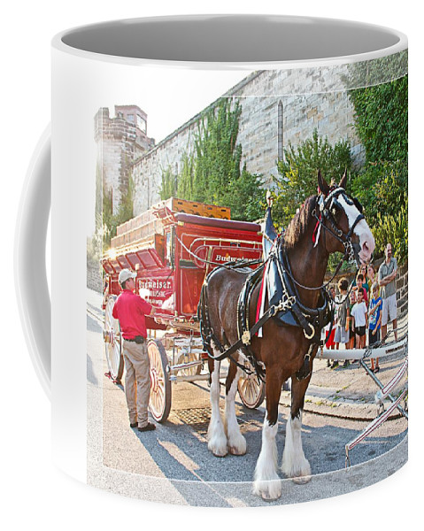 Budweiser Coffee Mug featuring the photograph Getting Hitched by Alice Gipson