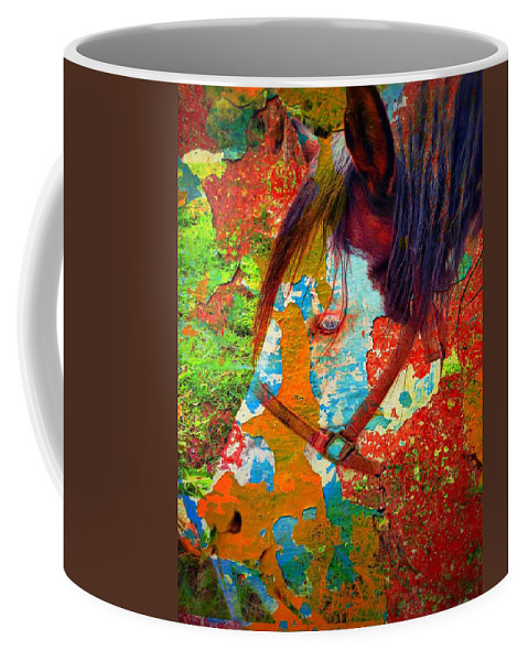 Ghost Horse Coffee Mug featuring the photograph Ghost Horse by Skip Hunt