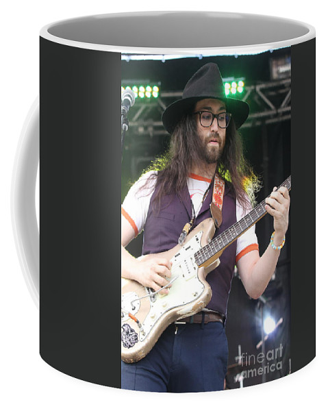 Musician Coffee Mug featuring the photograph Ghost Of A Saber Tooth Tiger - Sean Lennon by Concert Photos