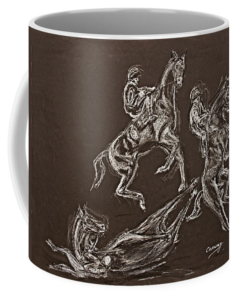 Rearing Horse Coffee Mug featuring the drawing Ghost Riders In The Sky by Tom Conway