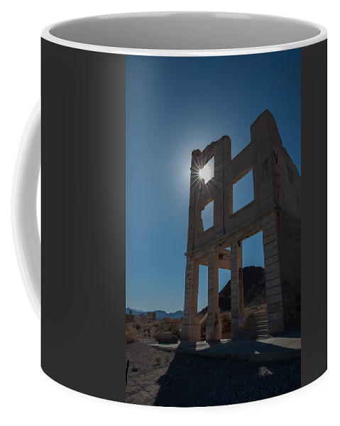 Ghost Town Coffee Mug featuring the photograph Ghost Town - Rhyolite by George Buxbaum