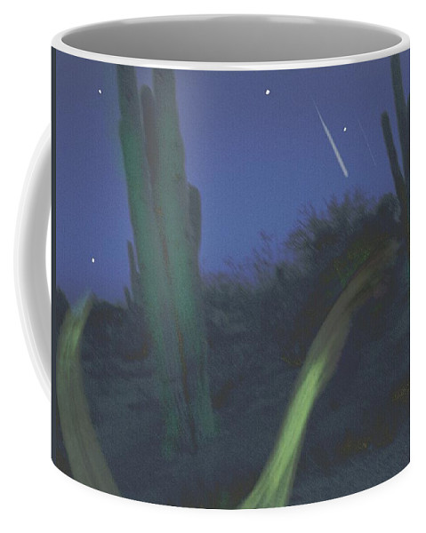 Carlos Castaneda Peyote Don Juan Southwest American Desert Ghost Dance Coffee Mug featuring the digital art Ghostdance by Phillip Strunk