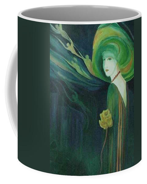 Women Coffee Mug featuring the painting My Haunted Past by Carolyn LeGrand