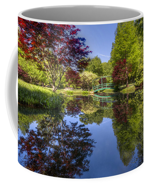 Appalachia Coffee Mug featuring the photograph Gibbs Garden by Debra and Dave Vanderlaan