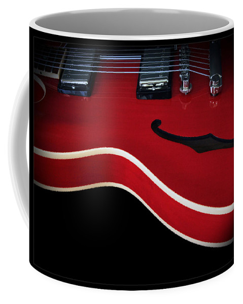 Guitar Coffee Mug featuring the photograph Gibson Es-335 Electric Guitar by John Cardamone