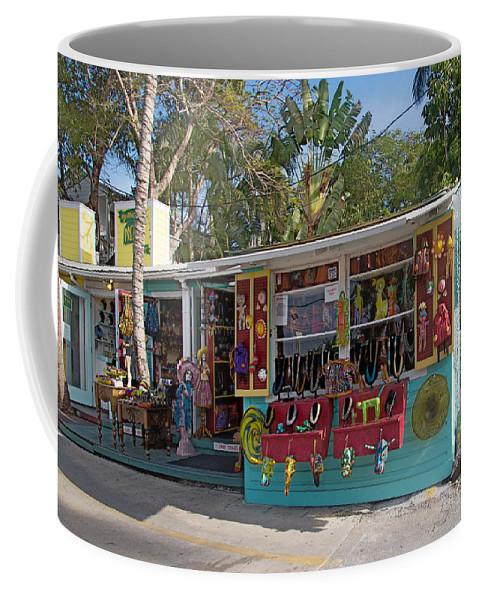 Florida Coffee Mug featuring the digital art Gift Shop In Key West by Carol Ailles