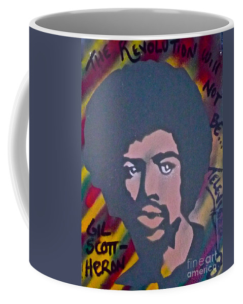 Gil Scott-heron Coffee Mug featuring the painting Gil Scott-heron 2 by Tony B Conscious