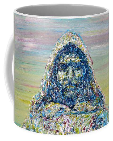 Giordano Bruno Coffee Mug featuring the painting Giordano Bruno by Fabrizio Cassetta