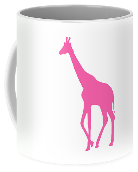 Graphic Art Coffee Mug featuring the digital art Giraffe In Pink by Jackie Farnsworth