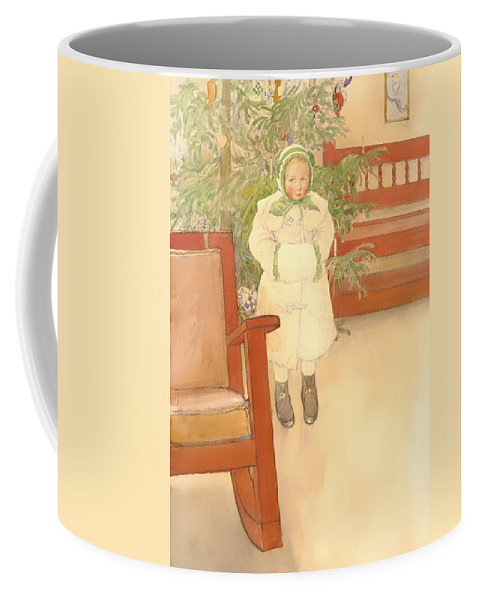 Painting Coffee Mug featuring the painting Girl And Rocking Chair by Mountain Dreams