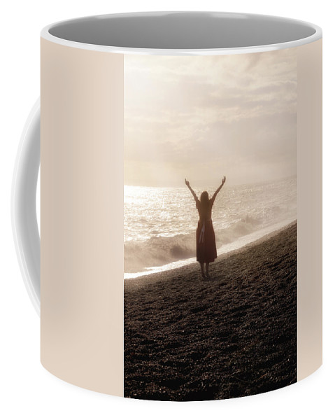 Girl Coffee Mug featuring the photograph Girl On Beach by Joana Kruse