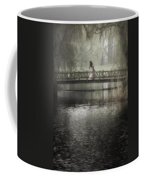 Girl Coffee Mug featuring the photograph Girl On Bridge by Joana Kruse
