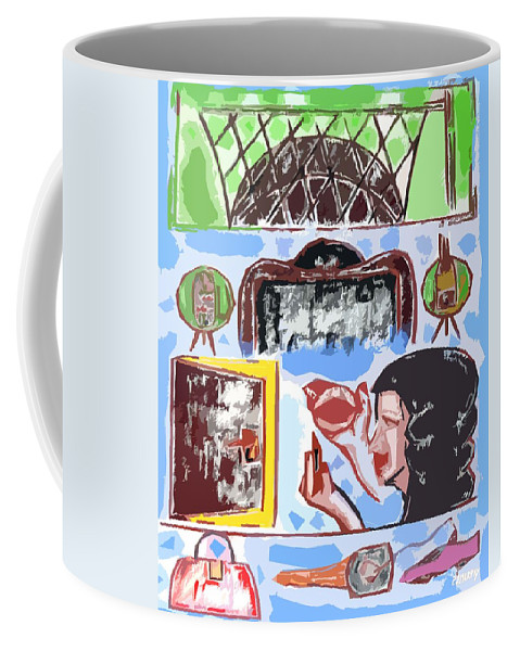 Birthday Coffee Mug featuring the painting Girls Night Out by Patrick J Murphy