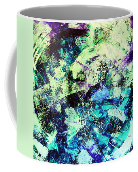Mountain Of Ice Coffee Mug featuring the painting Glacial Earth by Kusum Vij