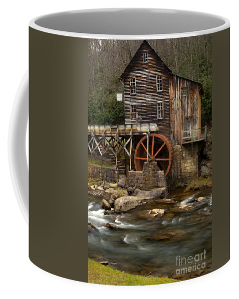 Glade Creek Grist Mill Coffee Mug featuring the photograph Glade Creek Grist Mill by Anthony Totah